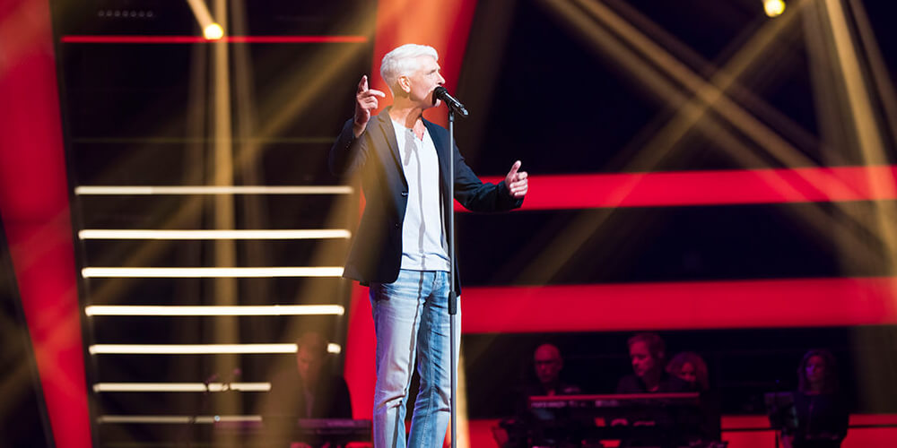 Guido lamm tijdens de Blind Auditions van The Voice Senior